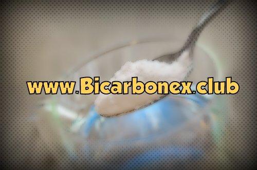 bicarbonato de sodio con agua